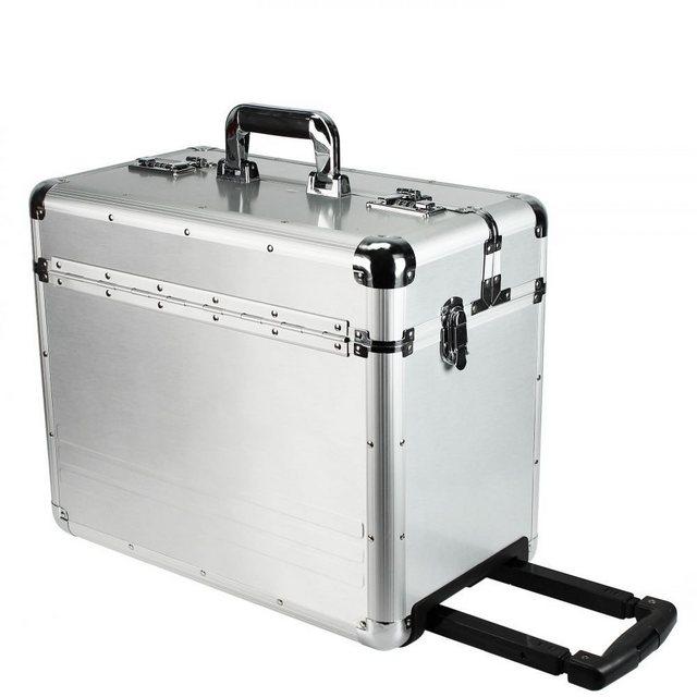 Dermata Aluminium Pilotenkoffer XL 47 cm Laptopfach | Taschen > Koffer & Trolleys > Koffer XL | Dermata
