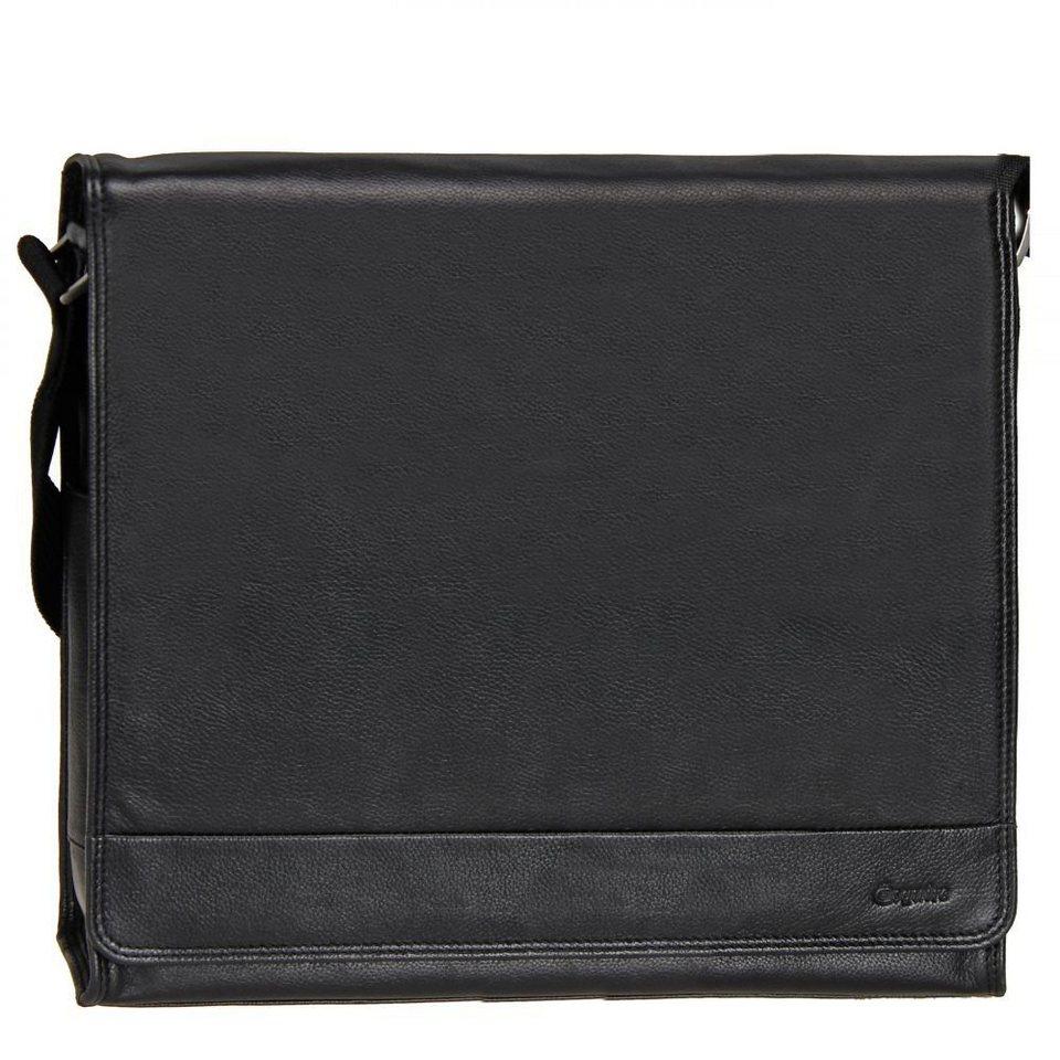 Esquire Esquire Courier Messenger Leder 35,5 cm in black