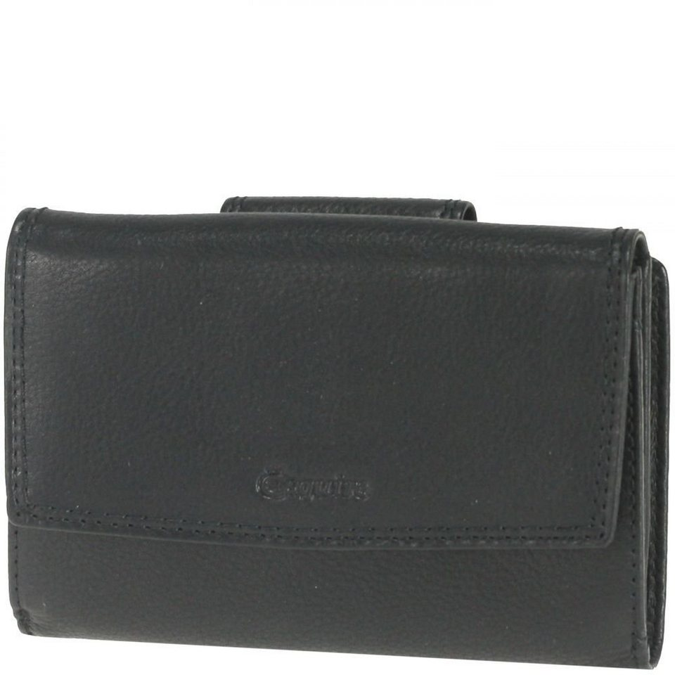Esquire Esquire Duo Damengeldbörse Leder 13,5 cm in black