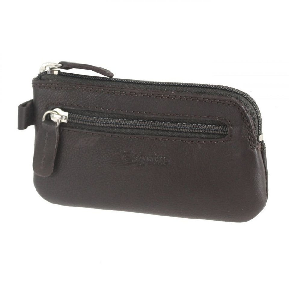 Esquire Duo Schlüsseletui Leder 12 cm in brown
