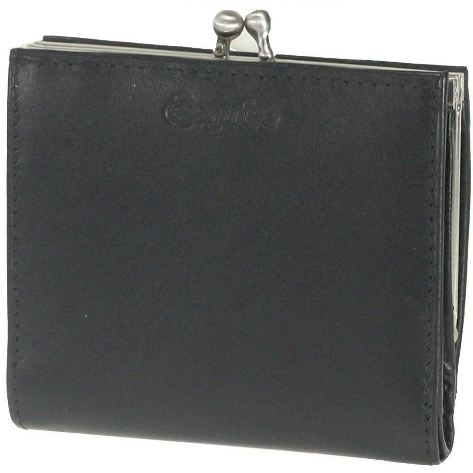 Esquire Silk Damenbügelbörse Leder 9 cm in black