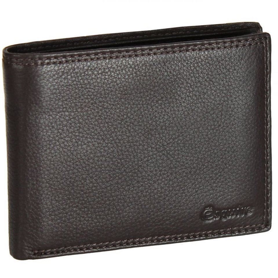 Esquire Duo Geldbörse Leder 12,5 cm in black