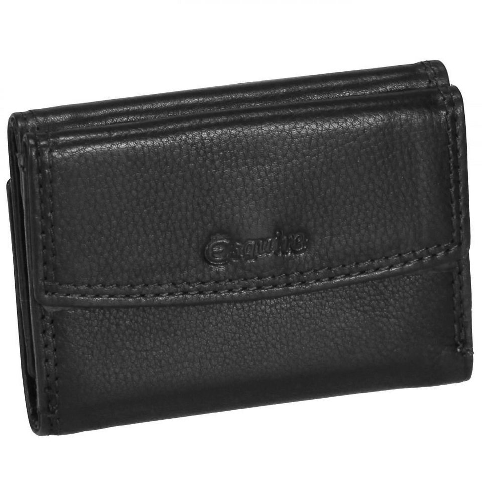 Esquire Duo Damengeldbörse II Leder 10 cm in black