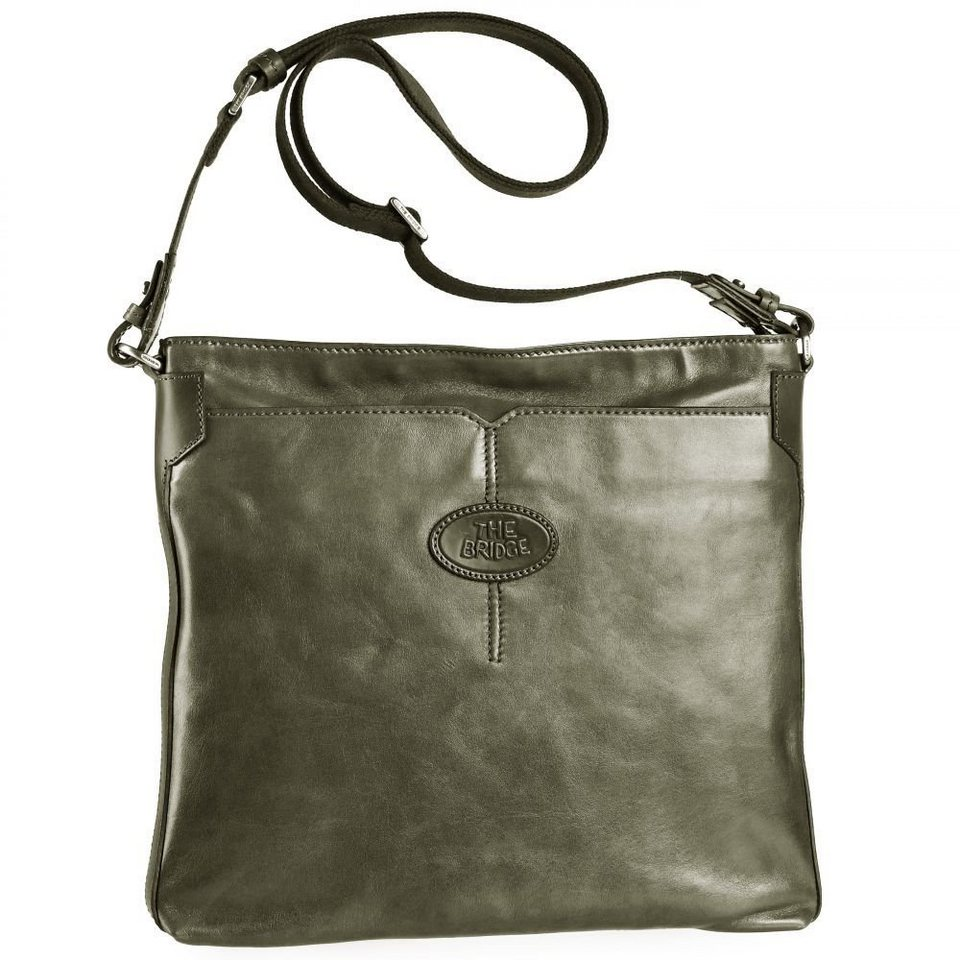 The Bridge San Babila Umhängetasche Leder 35 cm in sage green