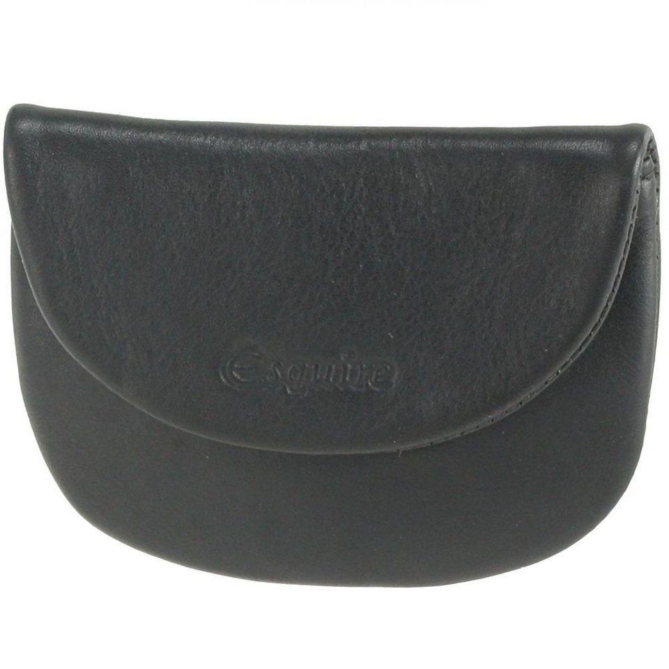 Esquire Silk Münzbörse Leder 9,5 cm in black