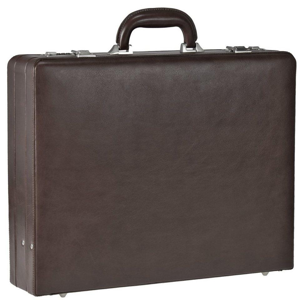 Dermata Aktenkoffer Leder 46 cm in braun