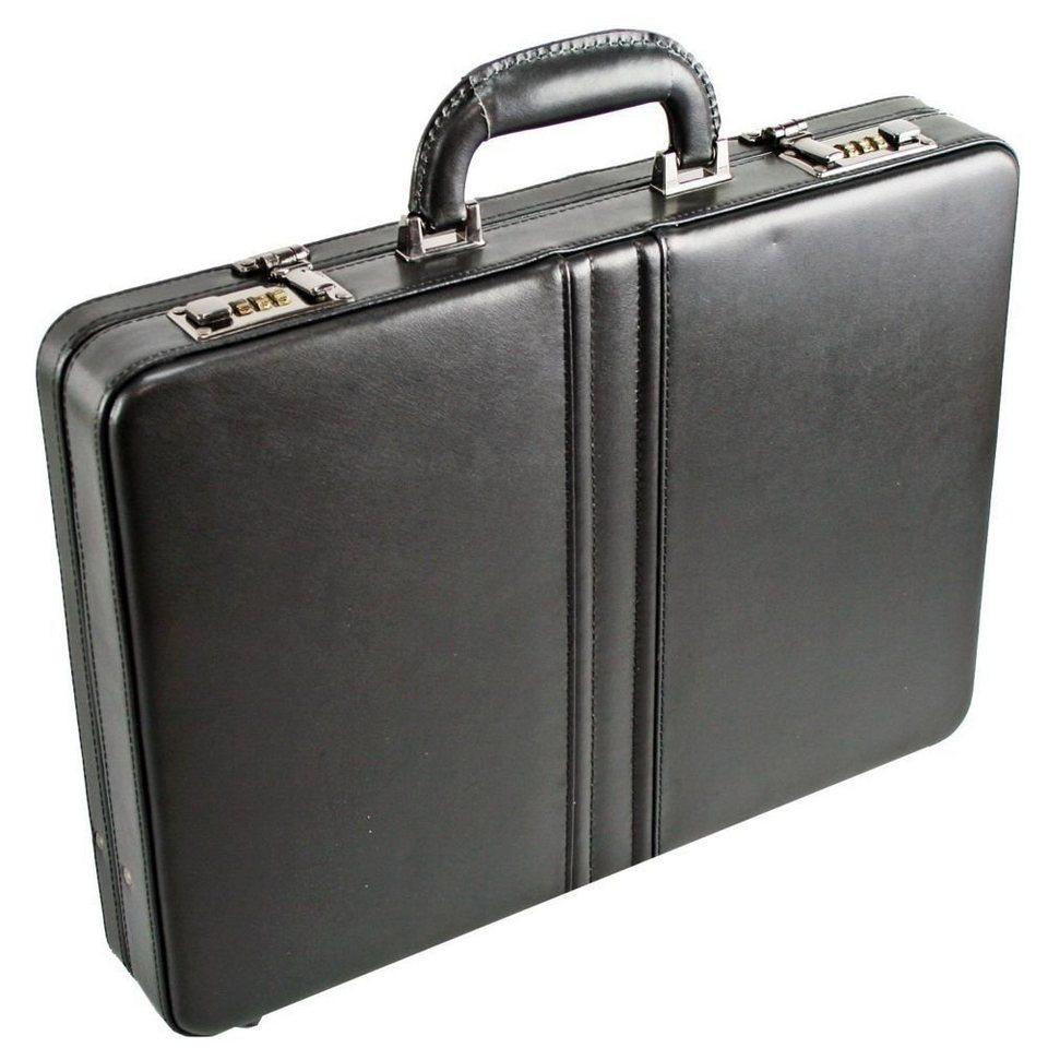 Dermata Aktenkoffer Leder 43,5 cm in schwarz