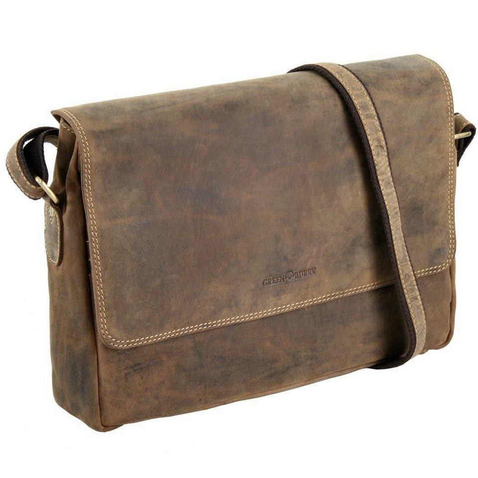 Greenburry Vintage Messenger Leder 34 cm in brown