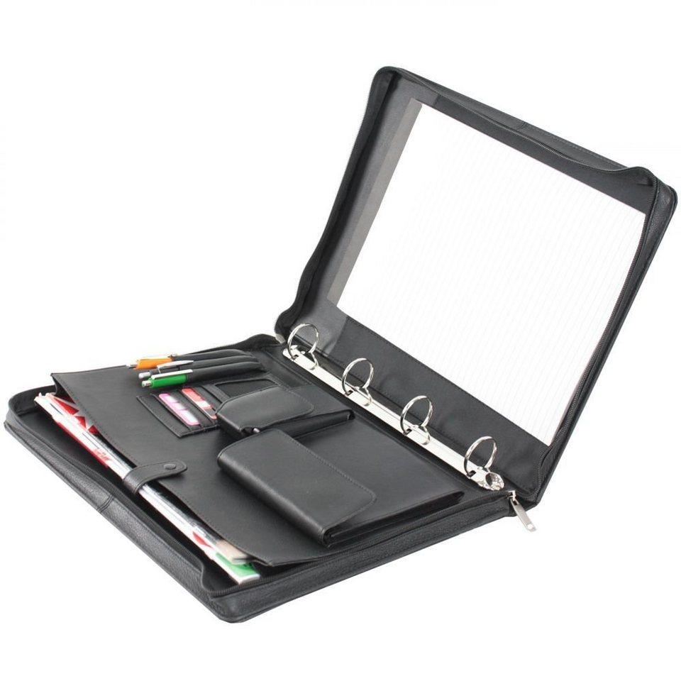 Dermata Dermata Schreibmappe Leder 34,5 cm in schwarz