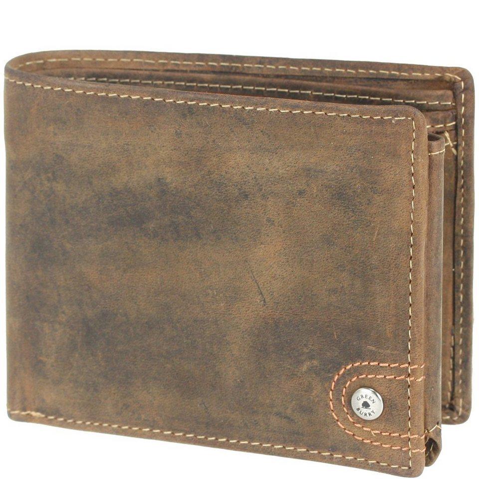 Greenburry Greenburry Vintage Geldbörse Leder 12,5 cm in sattelbraun