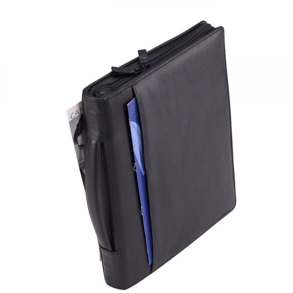 Dermata Schreibmappe Leder 34,5 cm in schwarz