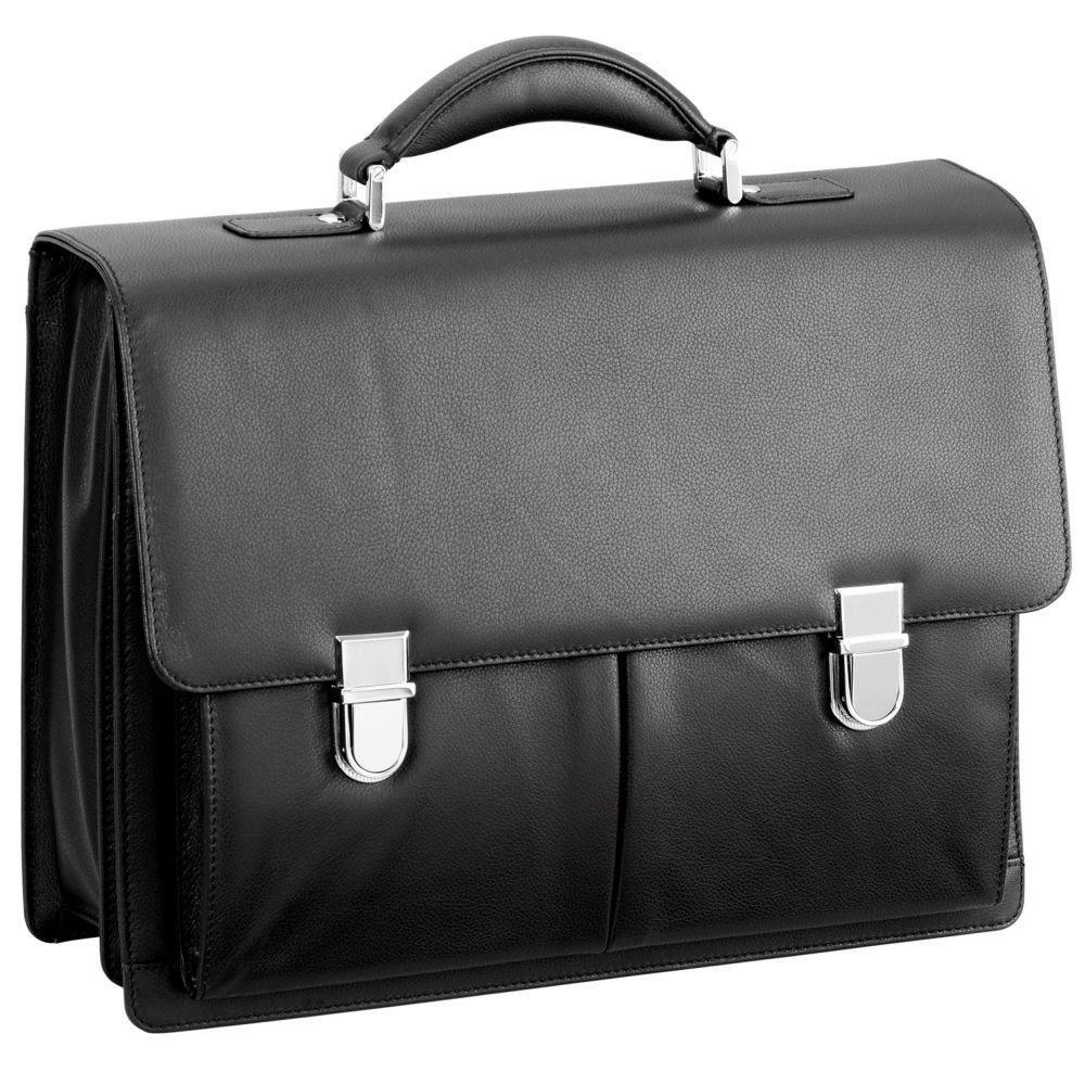 d & n Business Line Aktentasche Leder 40 cm Laptopfach