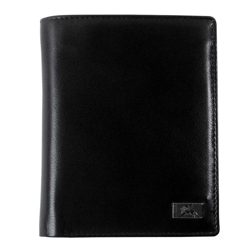 mano mano Lion Geldbörse Leder 9,5 cm in schwarz
