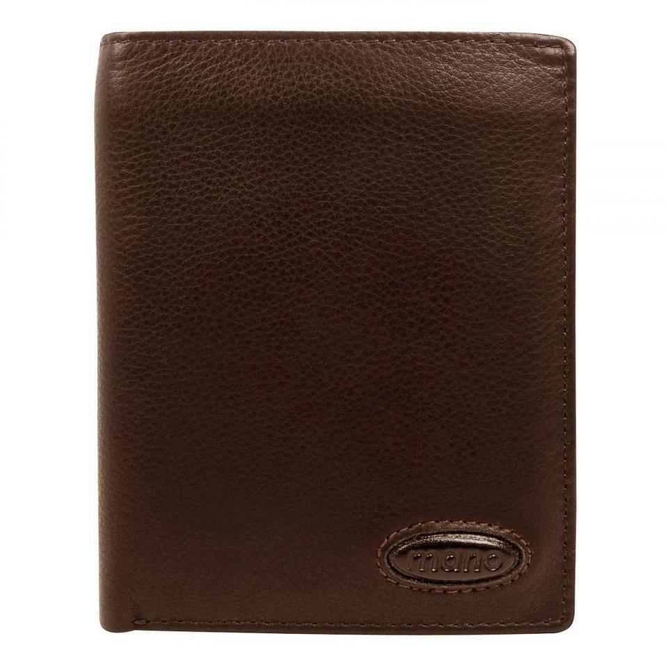 MANO Derby Brieftasche Leder 10 cm in braun