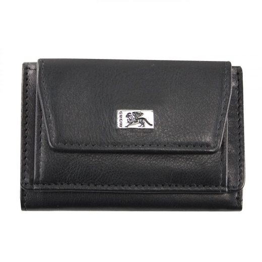 MANO Lion Mini Geldbörse Leder 10,5 cm