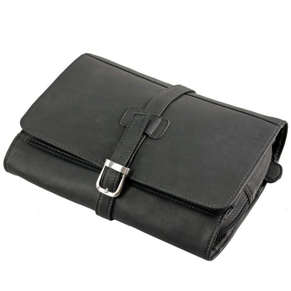 Harold's Harold's Country Kulturtasche Leder 22 cm in schwarz