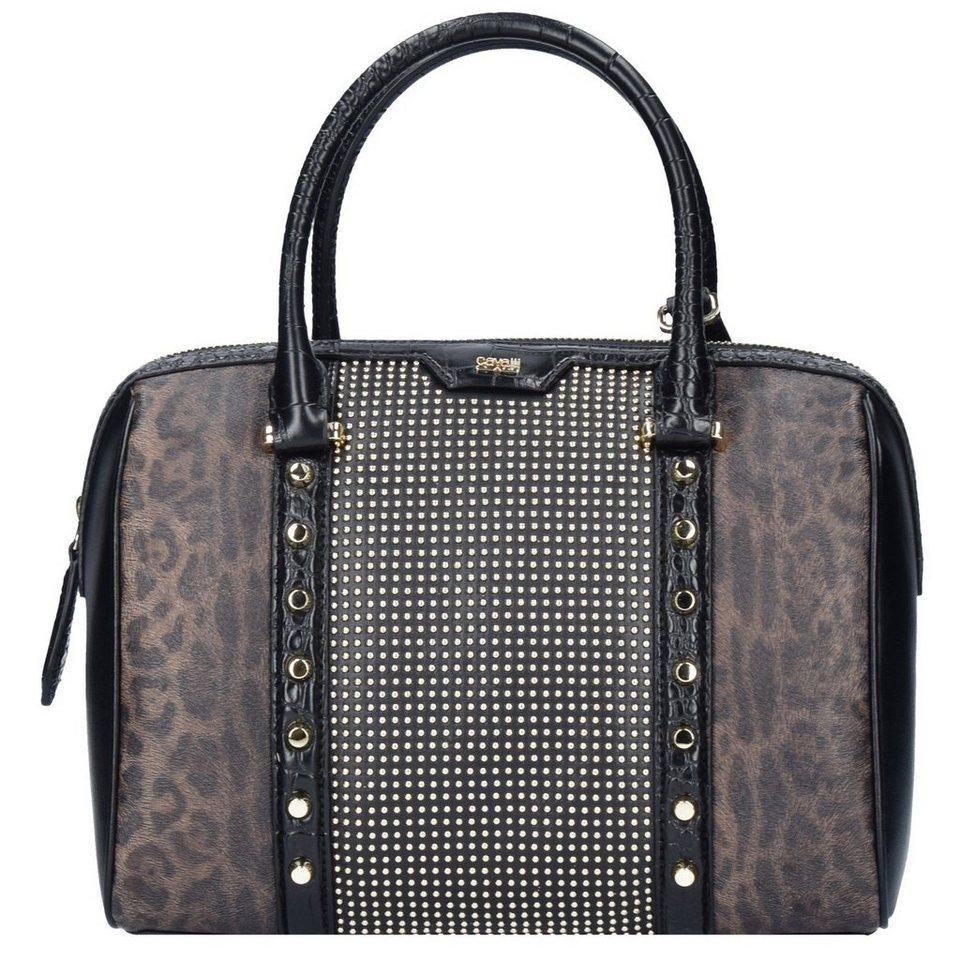 Roberto Cavalli Class Signature Prestige Handtasche Leder 26 cm in black