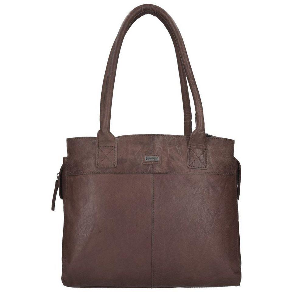 Spikes & Sparrow Spikes & Sparrow Bronco Shopper Tasche Leder 35 cm in dark brown