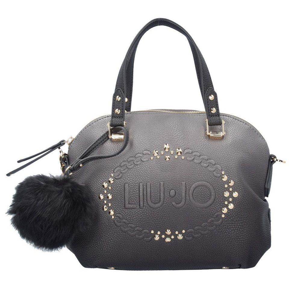 Liu Jo Liu Jo Bauletto Logo Luccio Shopper Tasche 34 cm in gun metal