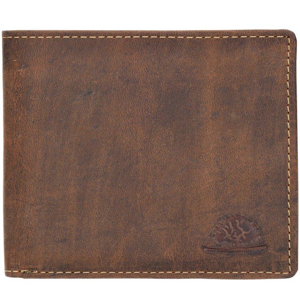 Greenburry Greenburry Vintage Geldbörse Leder 12 cm in brown