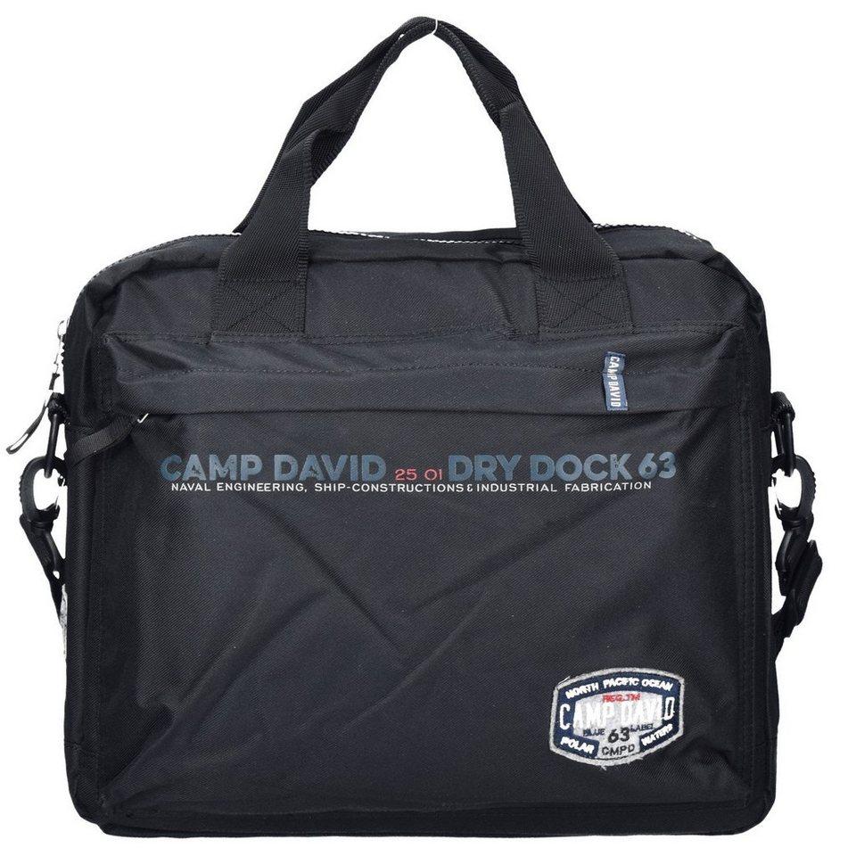 CAMP DAVID Norton Bay Business Tasche 39 cm Laptopfach in schwarz