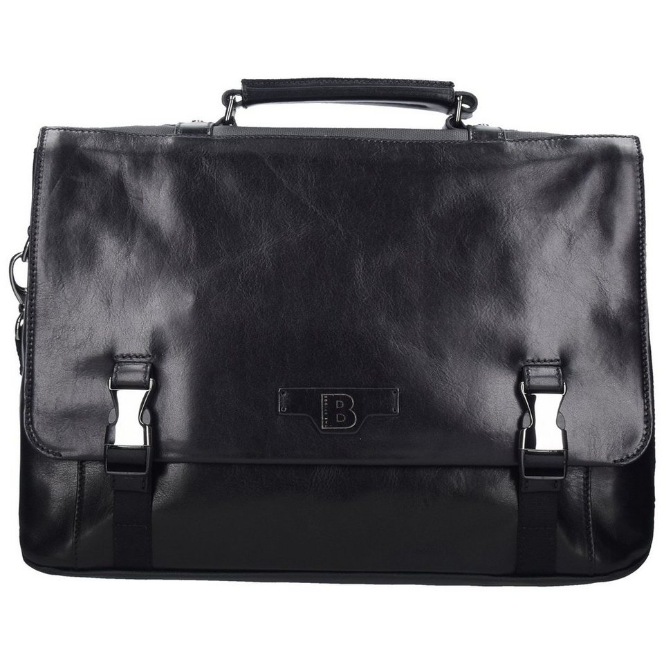 The Bridge Hydro Messenger Tasche Leder 42 cm Laptopfach in nero-gunmetal
