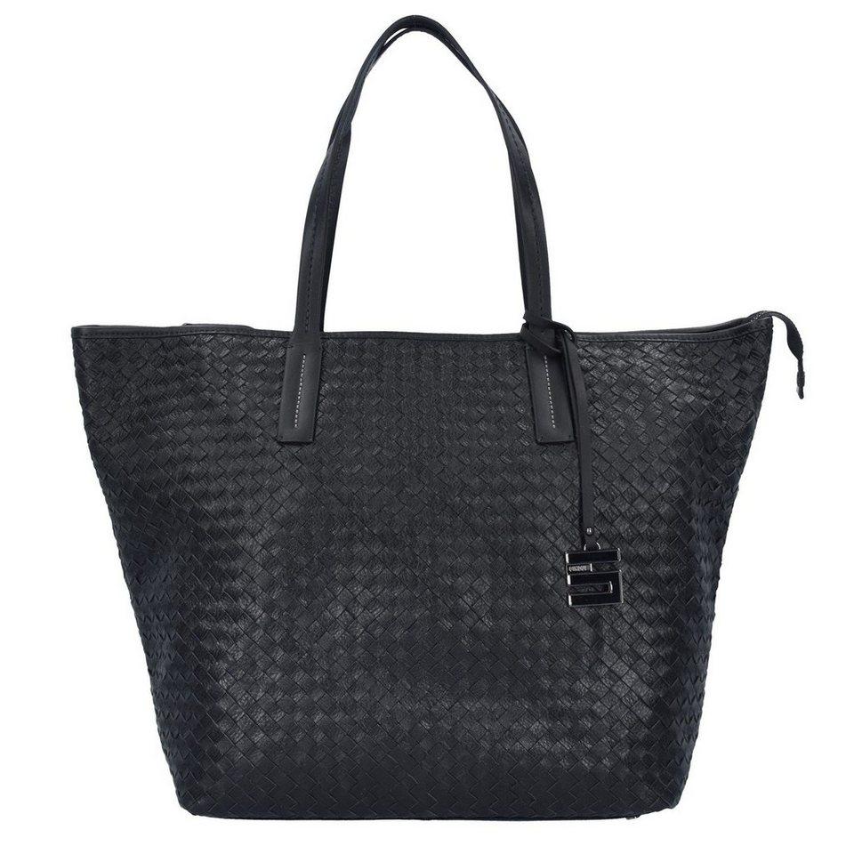 Cinque Cosma Shopper Tasche Leder 51 cm in schwarz