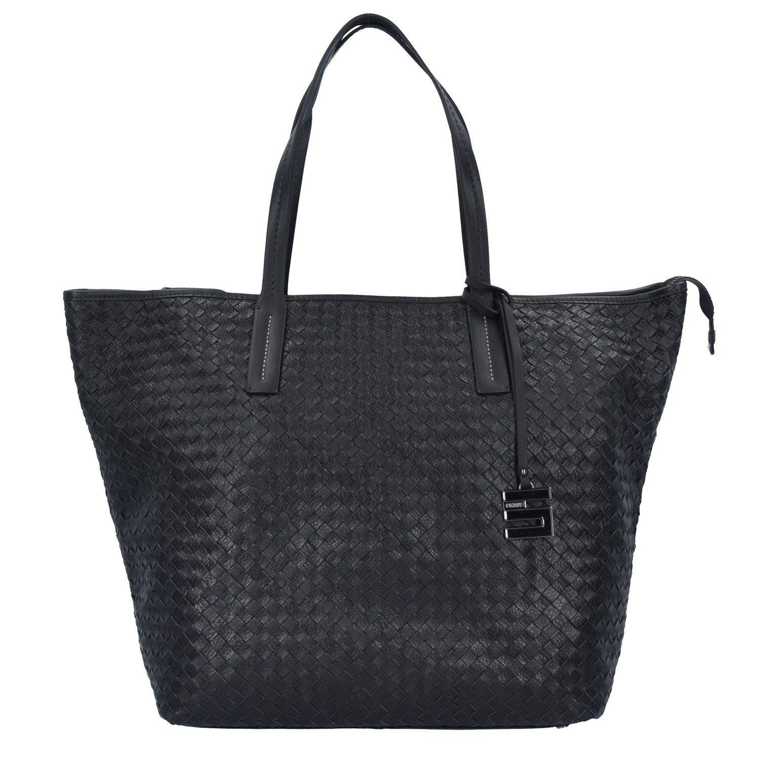 Cinque Cosma Shopper Tasche Leder 51 cm