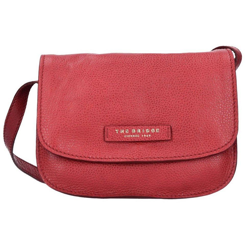 The Bridge Plume Soft Donna Mini Bag Umhängetasche Leder 24 cm in rosso ribes