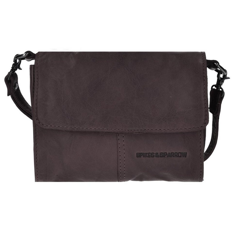 Spikes & Sparrow Spikes & Sparrow Bronco Clutch Tasche Leder 18 cm in dark brown