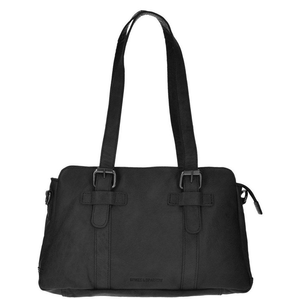 Spikes & Sparrow Bronco Handtasche Leder 31 cm in black
