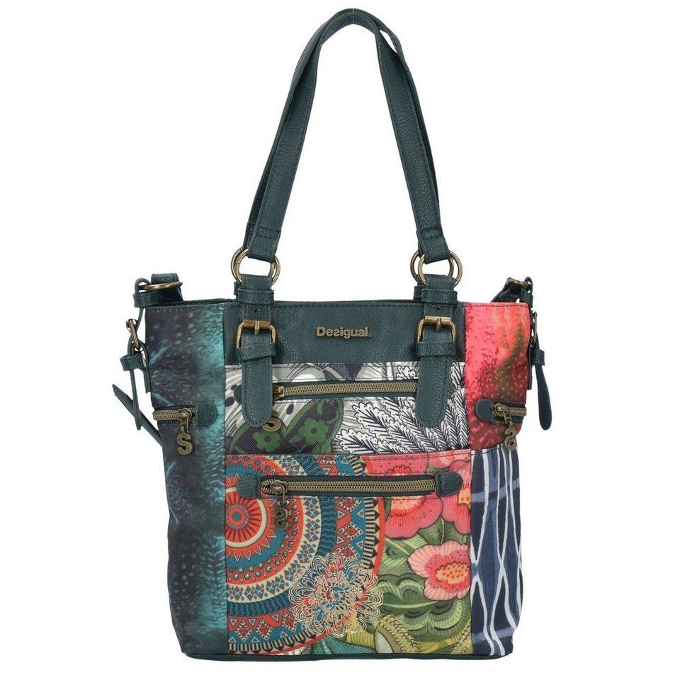 Desigual Desigual BOLS Argentina Alabama Shopper Tasche 33 cm in verde oscuro