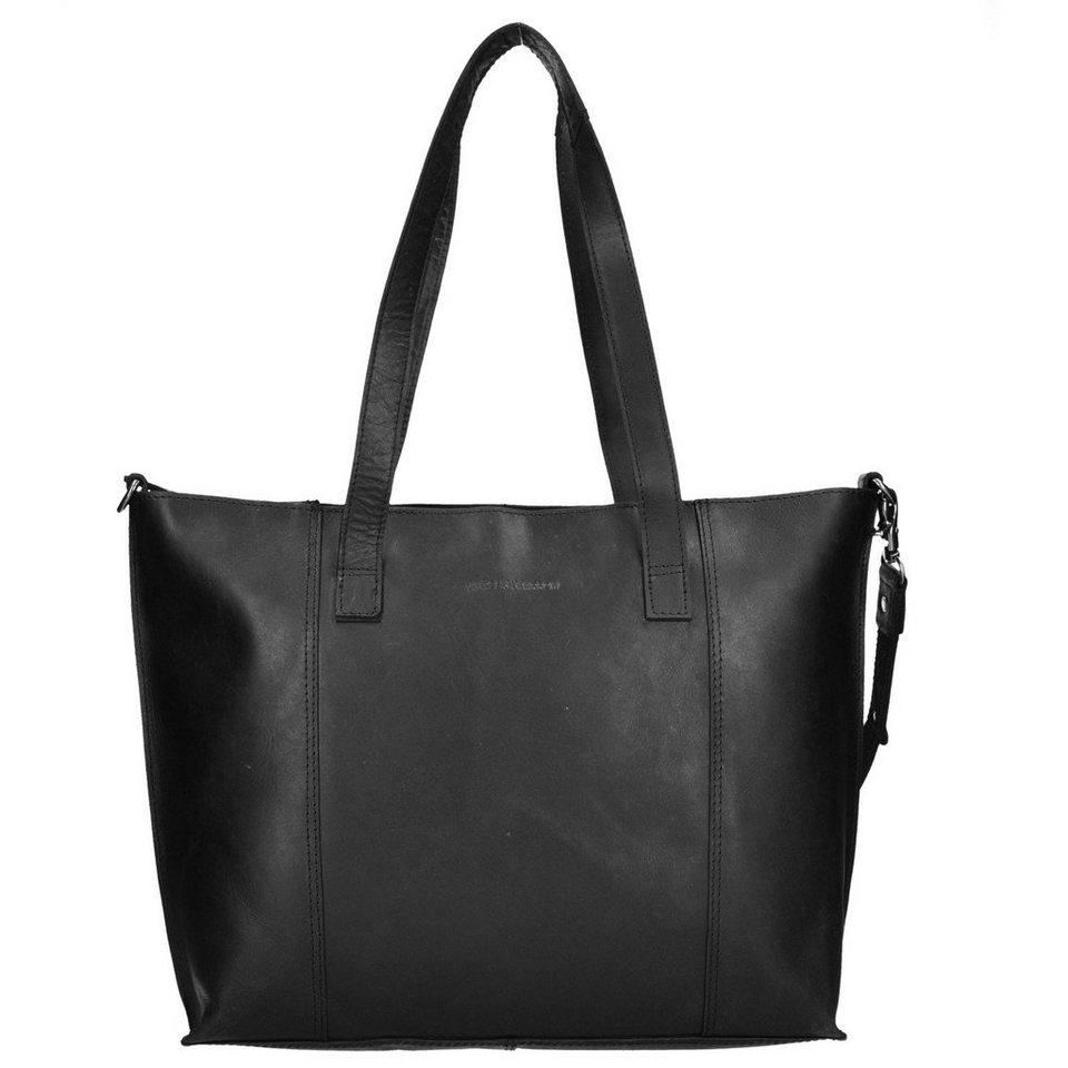Spikes & Sparrow Spikes & Sparrow Belt Shopper Tasche Leder 31 cm in black