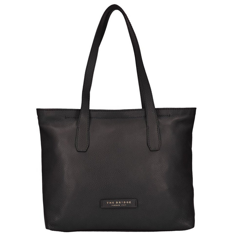 The Bridge The Bridge Plume Soft Donna Shopper Tasche Leder 32 cm in nero-goldfarben