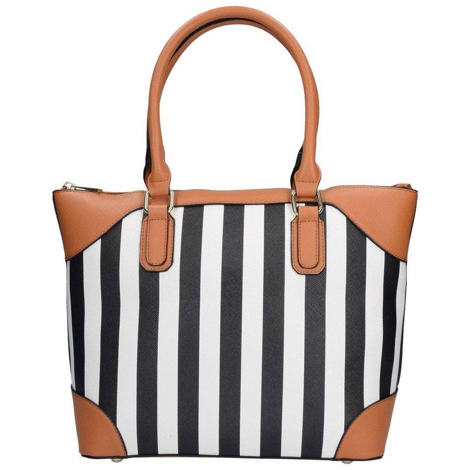 SANSIBAR Stripes Handtasche 38 cm in black