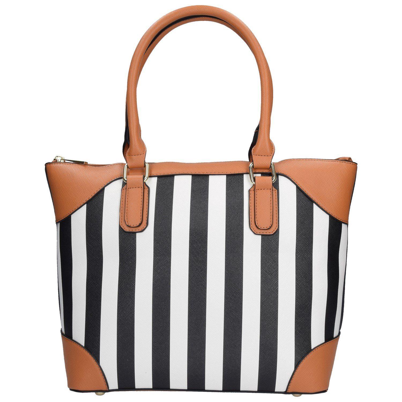 SANSIBAR Stripes Shopper Tasche 38 cm