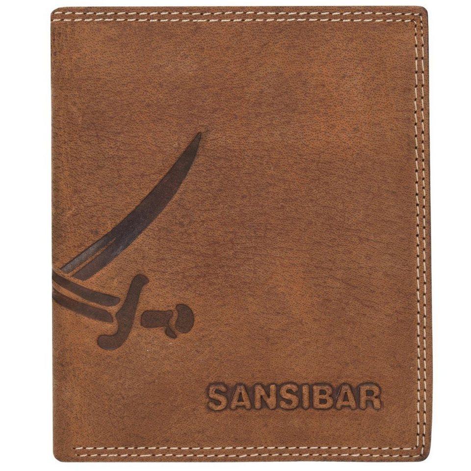 SANSIBAR List Hochformat Geldbörse Leder 11 cm mit Klappfach in brandy