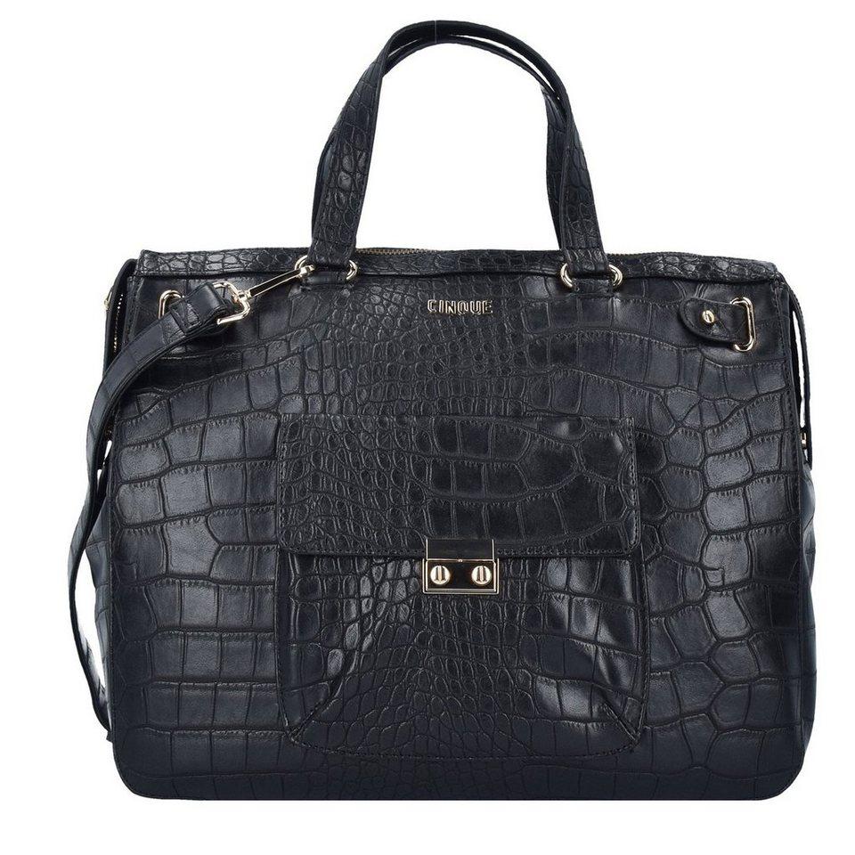 Cinque Cinque Donna Shopper Tasche 37 cm in schwarz