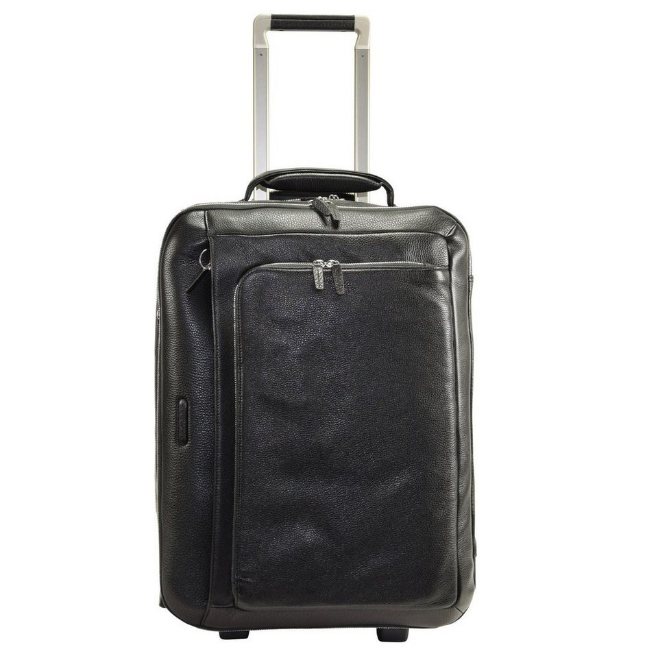 Piquadro Piquadro Modus 2-Rollen Business Trolley Leder 52 cm Laptopfach in black
