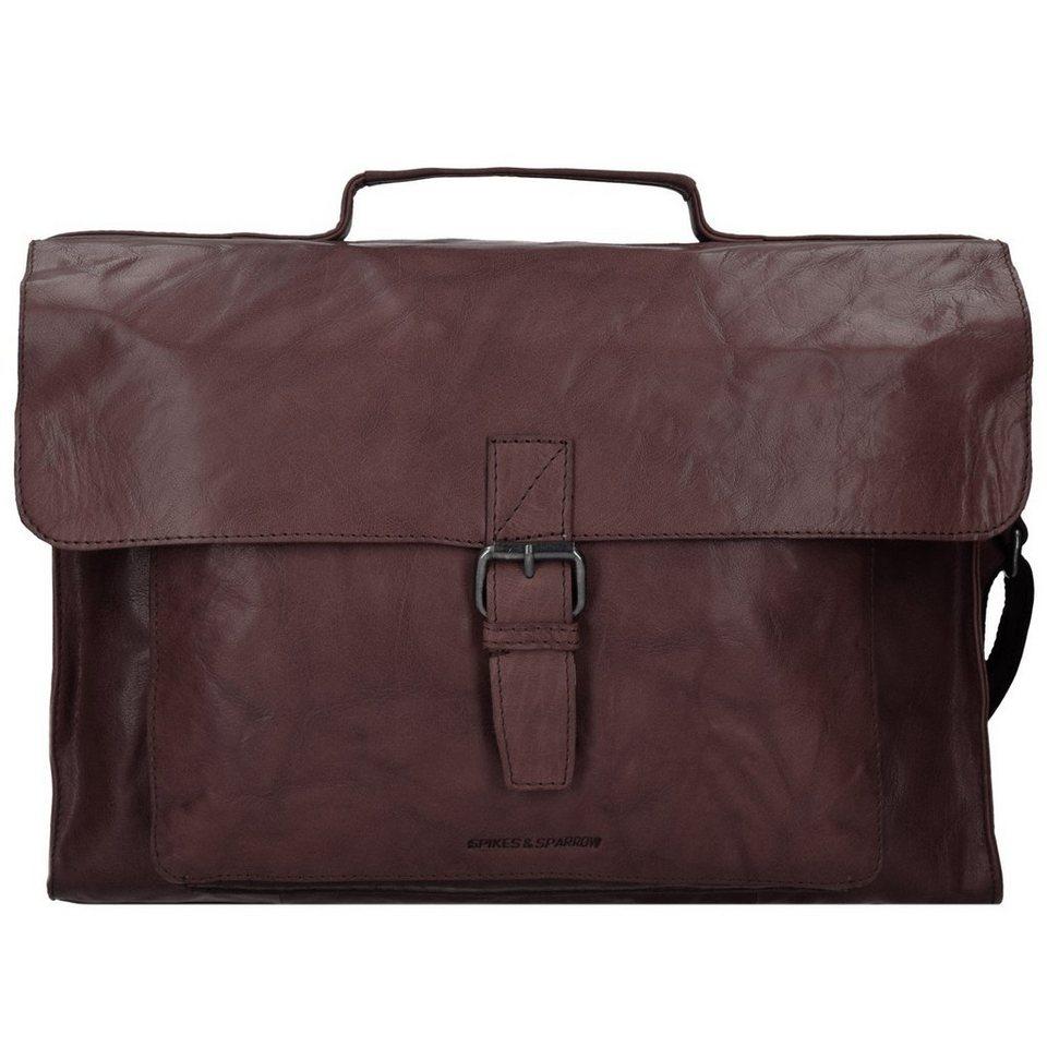 Spikes & Sparrow Spikes & Sparrow Bronco Aktentasche Leder 41 cm Laptopfach in dark brown
