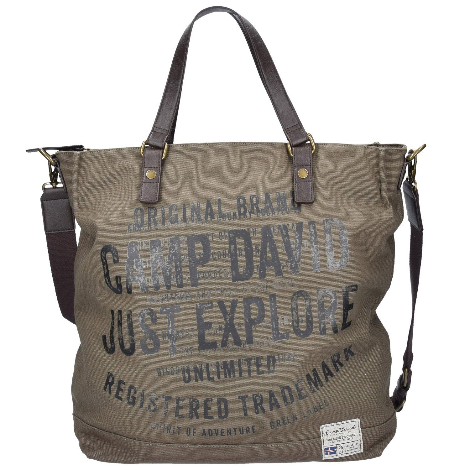 CAMP DAVID Yukon River Shopper Tasche 39 cm