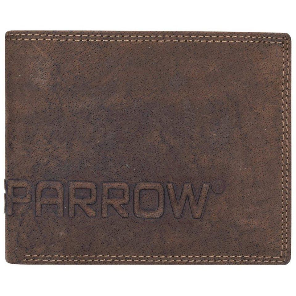 Spikes & Sparrow Amsterdam Herren Querformat Geldbörse Leder 12 cm mit Klappfach in dark brown
