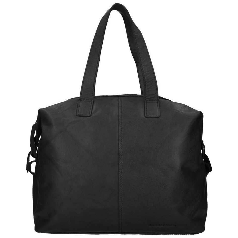 Spikes & Sparrow Spikes & Sparrow Bronco Shopper Tasche Leder 32 cm in black