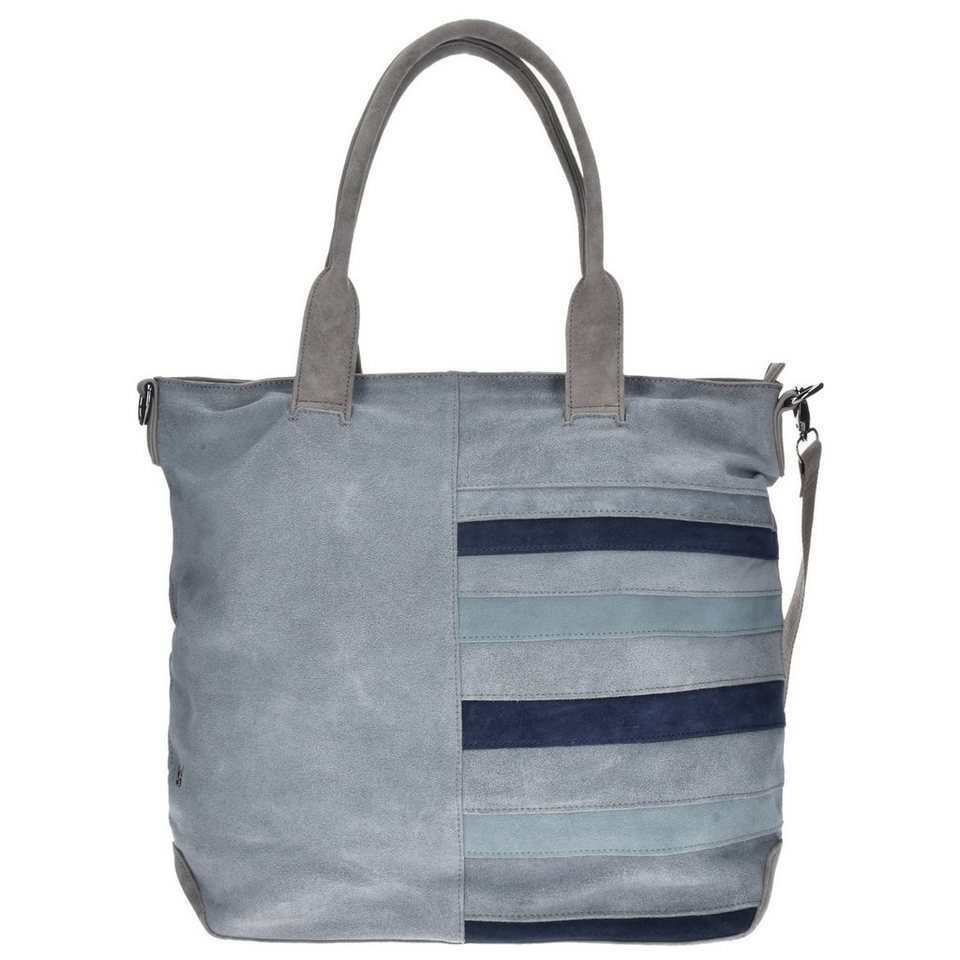SANSIBAR Sansibar Colorful Shopper Tasche 43 cm in grey