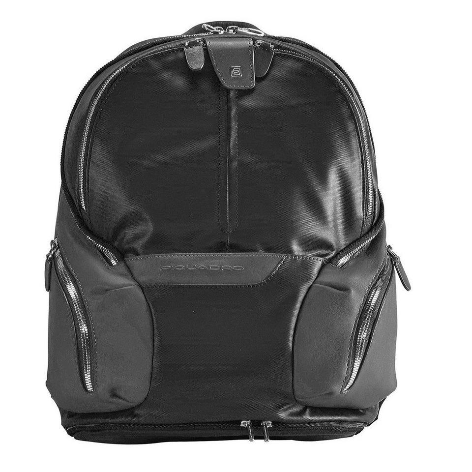 Piquadro Piquadro Coleos Rucksack Leder 36 cm Laptopfach in black