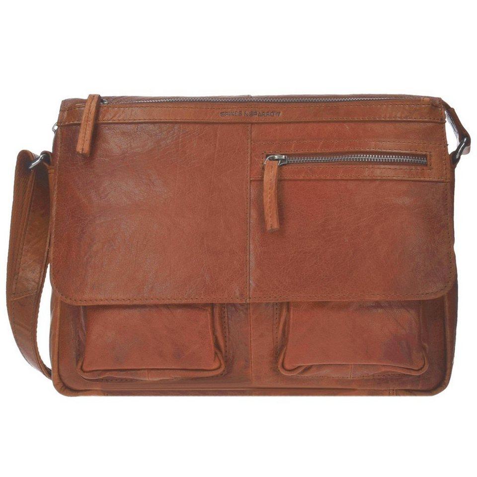 Spikes & Sparrow Spikes & Sparrow Bronco Messenger Bag Leder 34 cm in brandy