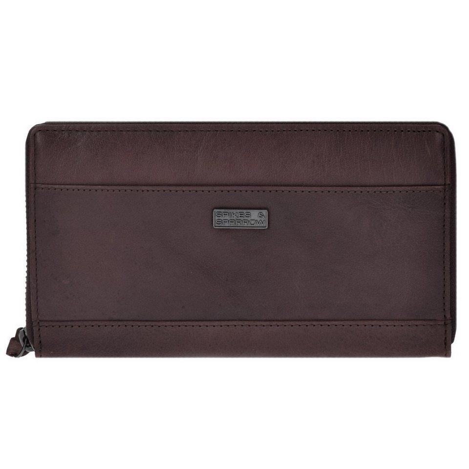 Spikes & Sparrow Spikes & Sparrow Bronco Geldbörse Leder 19 cm in dark brown