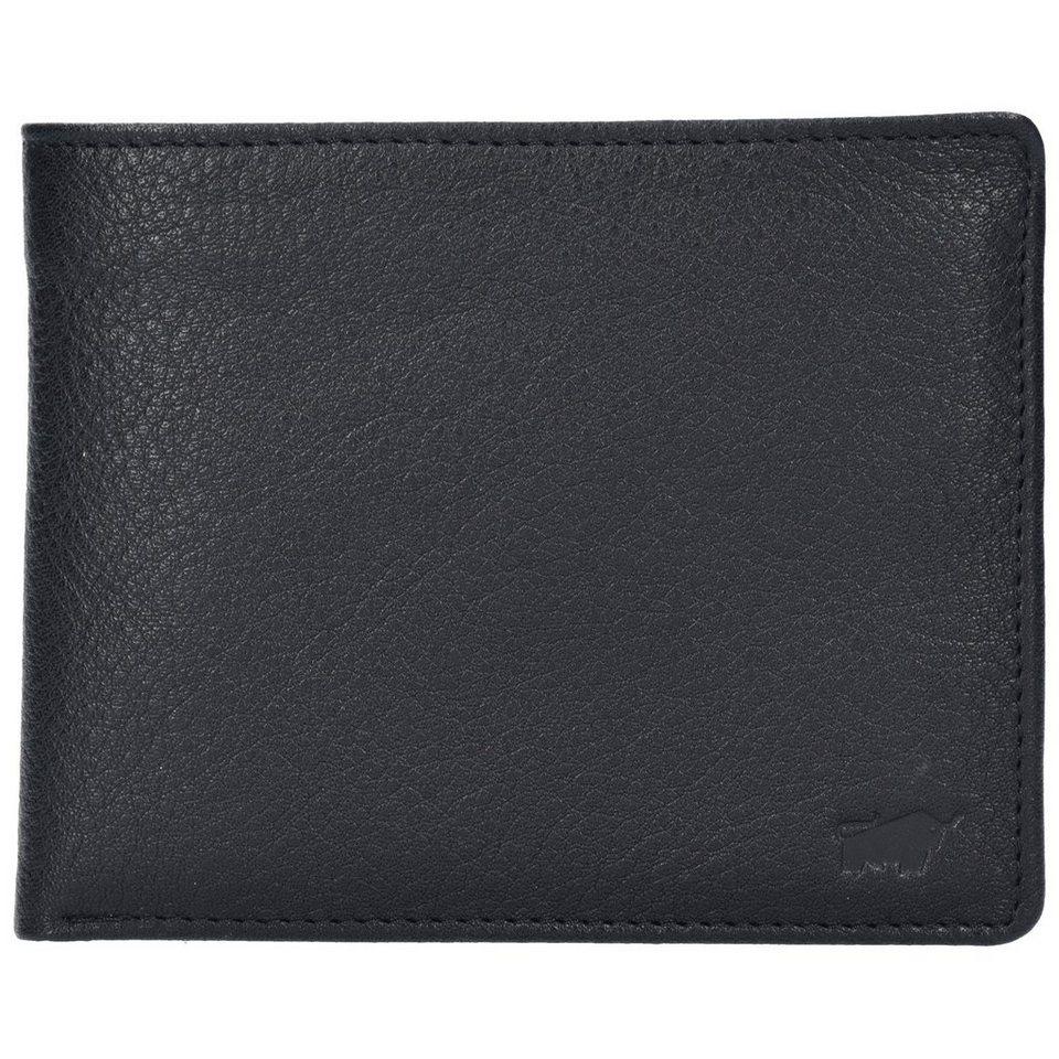 Braun Büffel Savona Geldbörse Leder 12 cm in schwarz