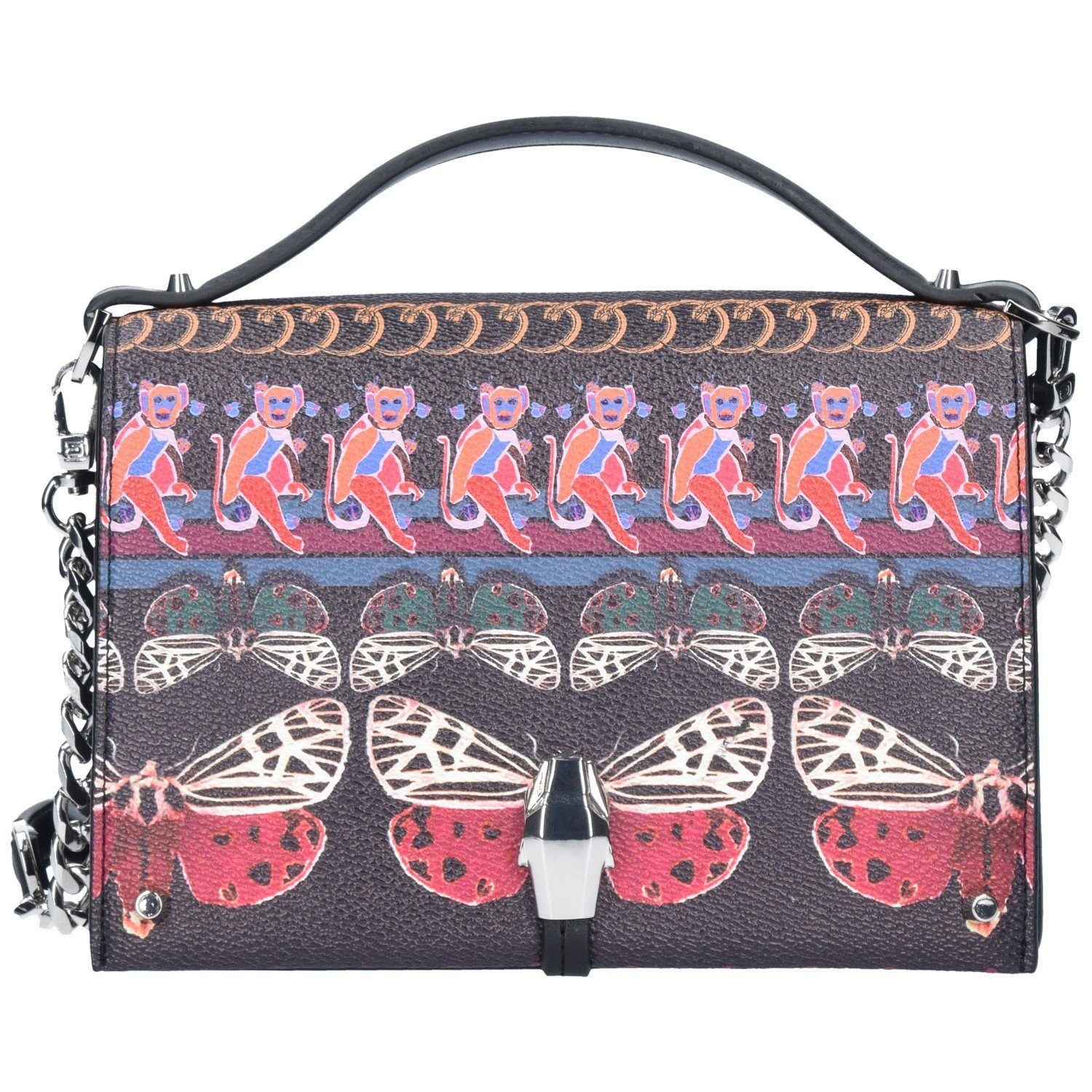 Roberto Cavalli Class Crazy Print Boho Dream Mini Bag Umhängetasche 18 cm