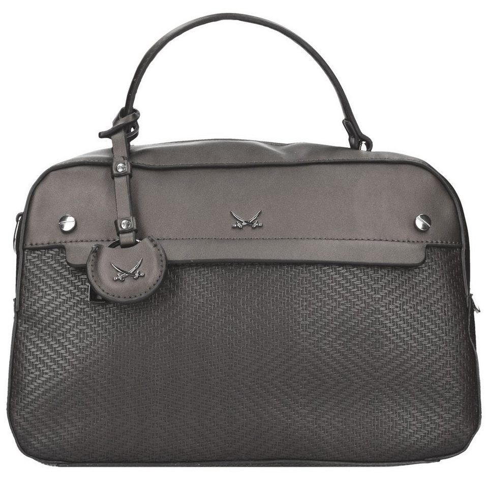 SANSIBAR Classic Handtasche 33 cm in grey
